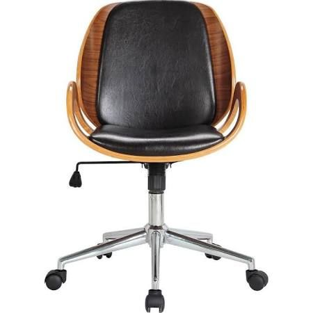 Rika Desk Chair with Arm Color: Brown