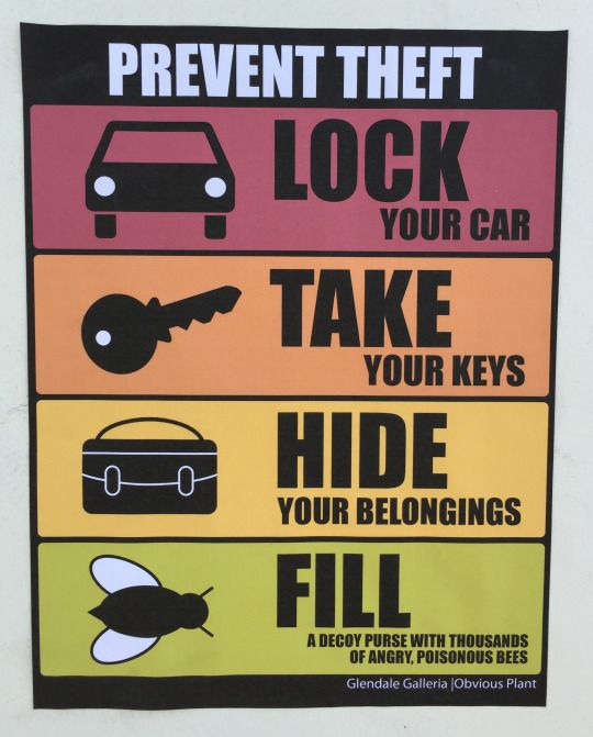 Car Theft Escape Parking: Obvious Plant Offers Insane Theft Prevention Tips With