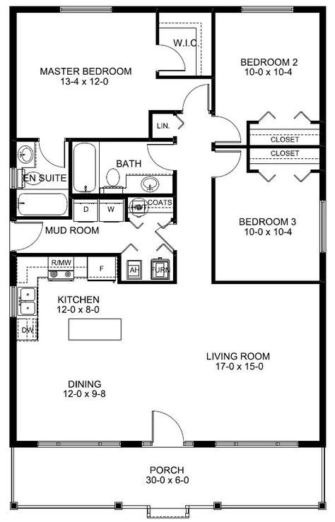Ranch House Plan 99960 – Plumbing Layout Plan For House