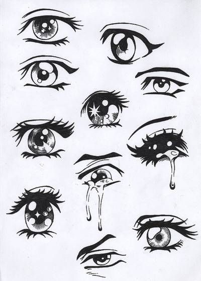Easy Drawing Ideas Drawing Anime And People Manga Eyes Easy