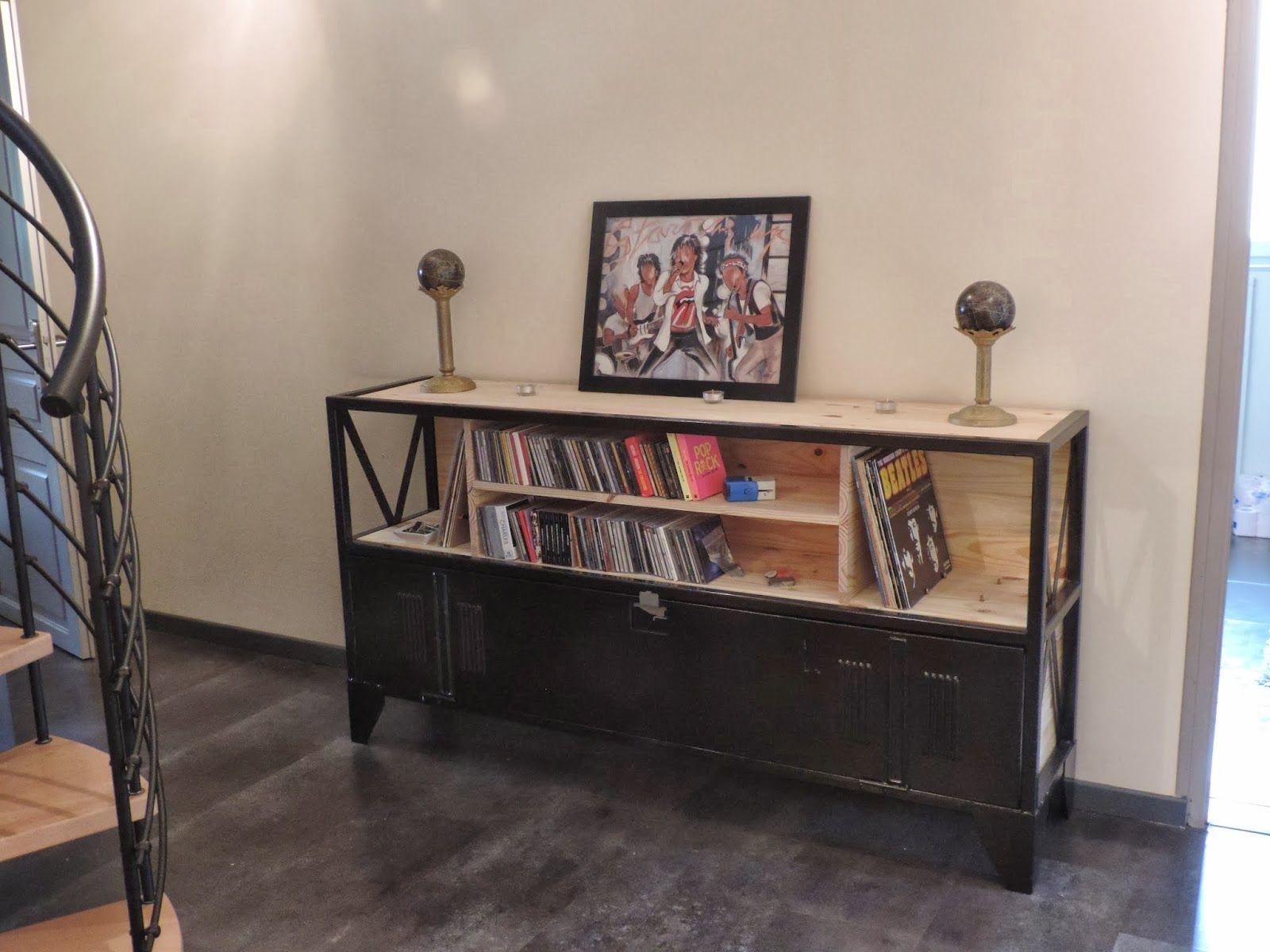 Mon mobilier industriel mon mobilier vintage restaurer r nover d tourner meuble tv - Meuble tv vestiaire metallique ...