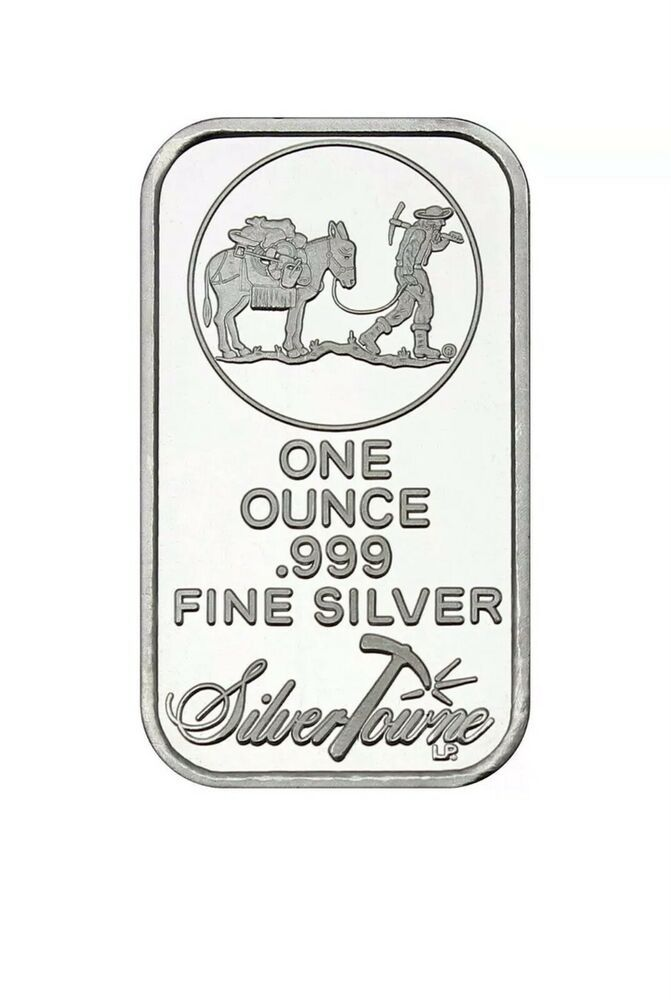 One Ounce Silvertowne .999 Mint Silver Buffalo Bar