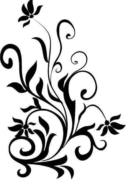 زخارف اشكال كل شي جديد Flower Graphic Flower Outline Graphic Patterns