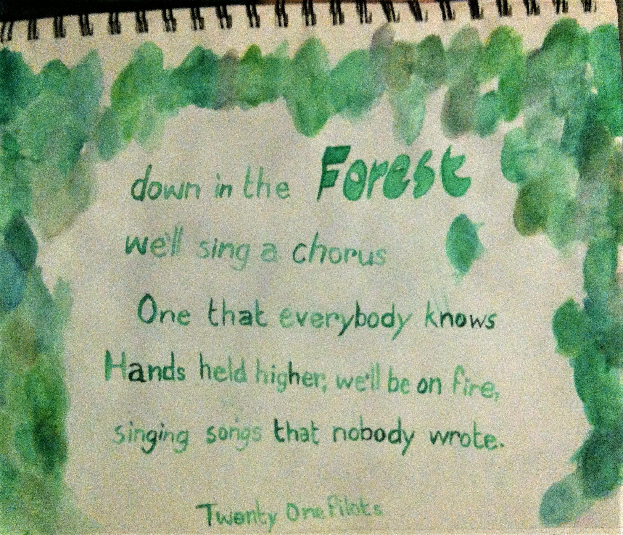 forest twenty one pilots lyric art watercolour e j m my art