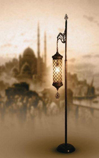 Candle Standing Lamp,Ottoman Style, Turkish Handmade Floor Lamp,Hanging Lamp,  Lighting