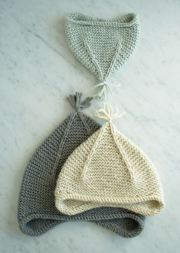 Laura\'s Loop: Garter Ear Flap Hat - The Purl Bee - Knitting Crochet ...