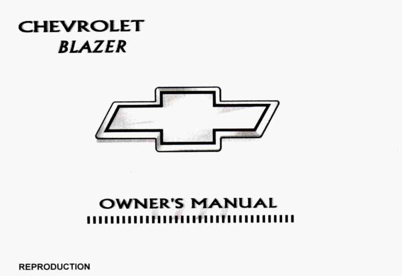 Chevrolet Blazer 1997 Owner's Manual has been published on