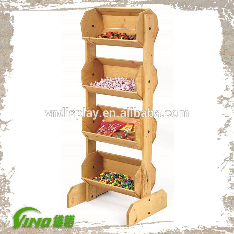 Supermercado de frutas y verduras de madera display rack - Estanterias rusticas de madera ...