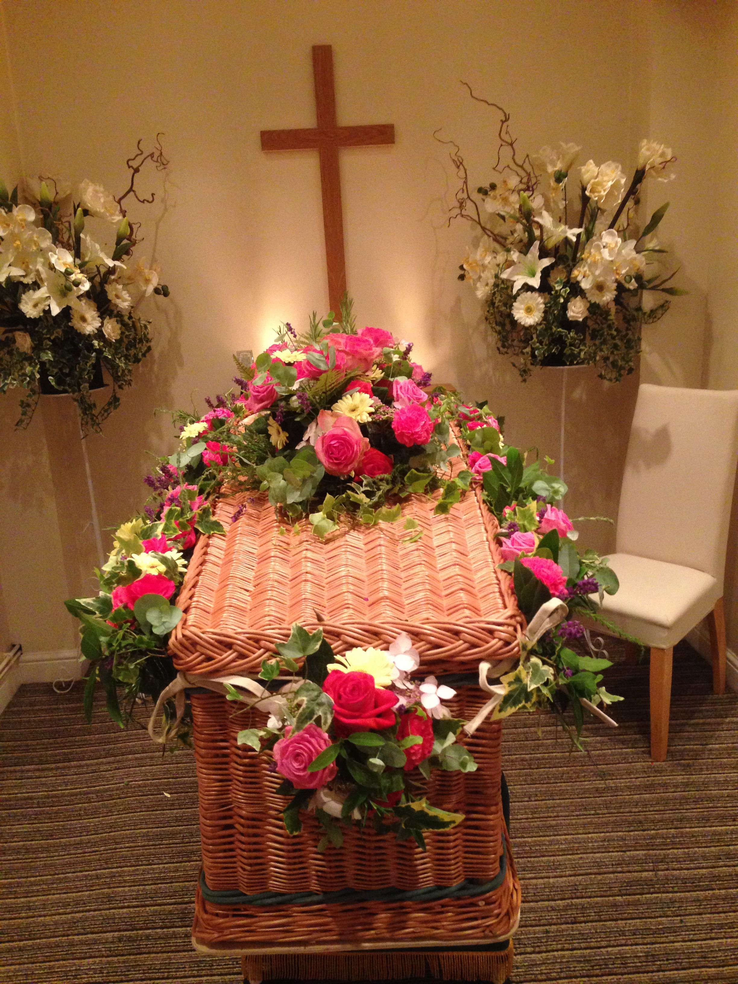 Flowers and garlands we made for our dear late mums