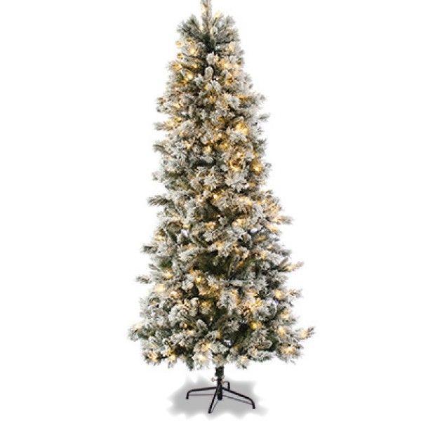 7ft Black Pre Lit Christmas Tree: Slim Christmas Trees On Sale