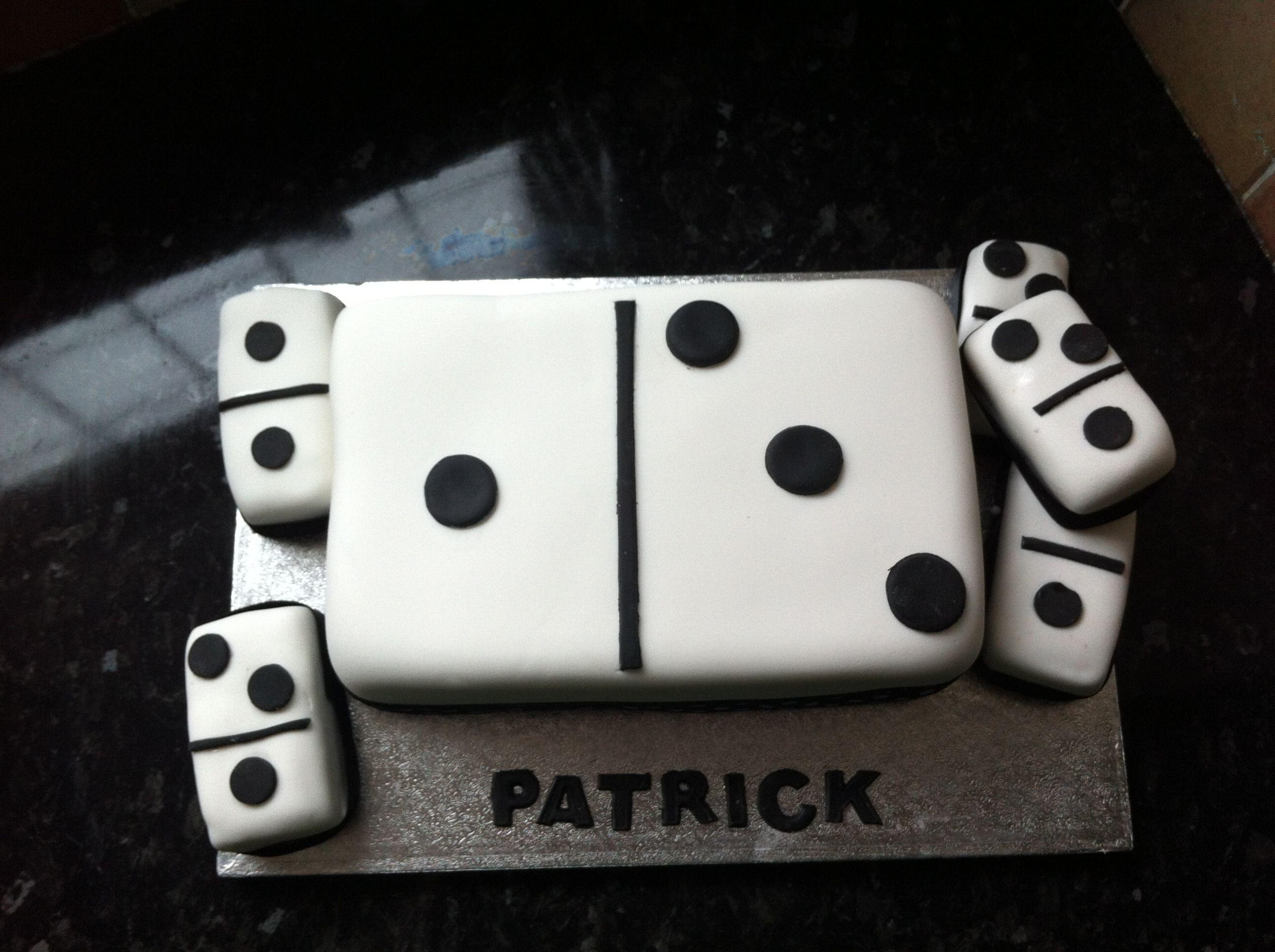 Domino cake Grooms cake Pinterest Cake Favorite recipes