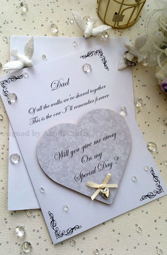 Will you give me away card with heart fridge magnet keepsake, Will ...