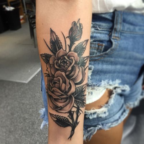 Beautiful Rose Tattoo Ink Youqueen Girly Flower Tattoos Small Tattoos Rose Tattoo On Arm Tattoos