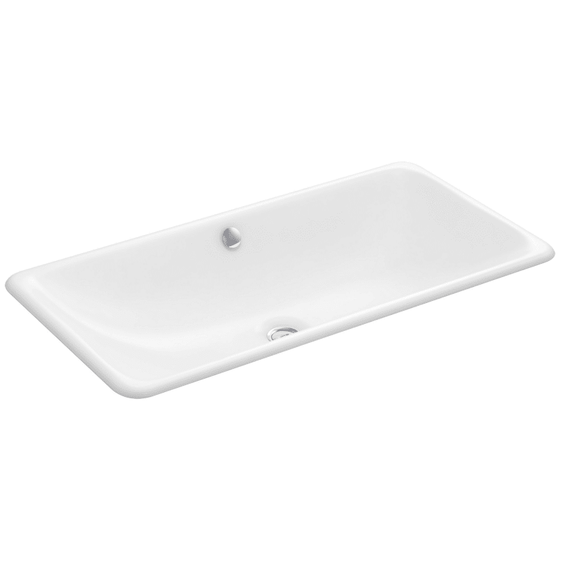 Kohler K 20212 0 White Iron Plains 30 Cast Iron Drop In Or Undermount Bathroom Sink With Overflow In 2020 Rectangular Sink Bathroom Sink Undermount Bathroom Sink