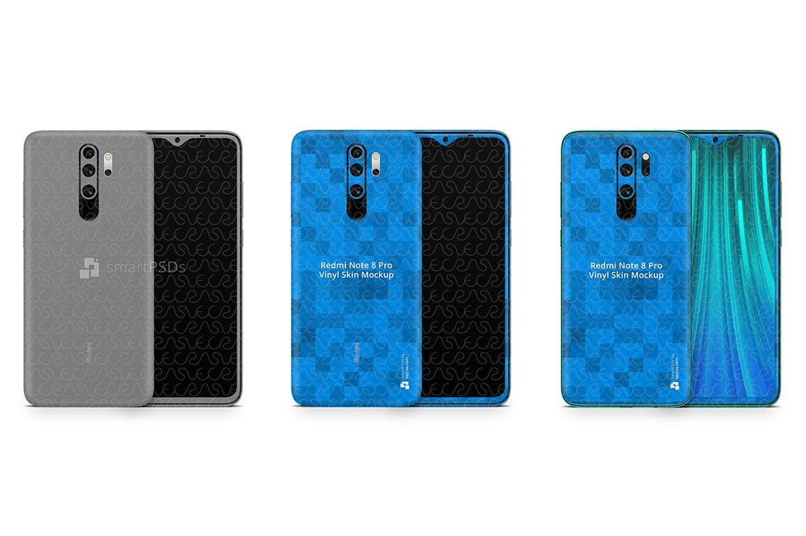 Redmi Note 8 Pro 2019 Psd Skin Mockup Template Desain Logo Desain