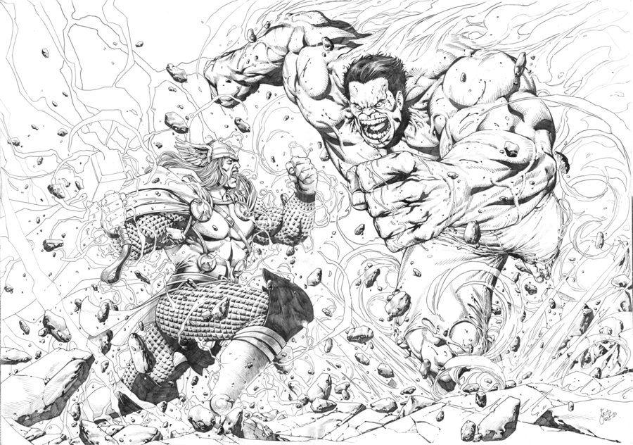 Thor Vs Hulk By Creatureboy On Deviantart Thor Comic Art Hulk Vs Thor Thor