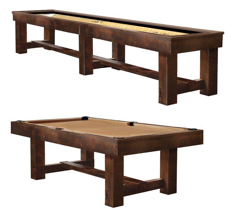 BRECKENRIDGE SHUFFLEBOARD AND MATCHING POOL TABLE