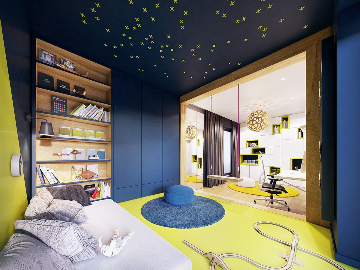 Feature Rich Decor In Family Friendly Apartment Kids Room Ideas
