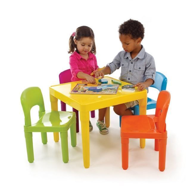 Kids Table And Chairs Set Play Furniture Chair Children Activity Toddler Plastic Kids Table Chair Set Kids Table Set Kids Chairs