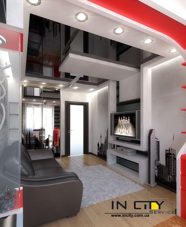 3 Modern Style Apartments Under 50 Square Meters Includes: Интерьер спальни в чешке для девушки подростка
