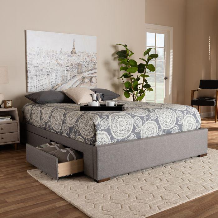 Best Baxton Studio Leni Modern Contemporary Light Grey Fabric 640 x 480
