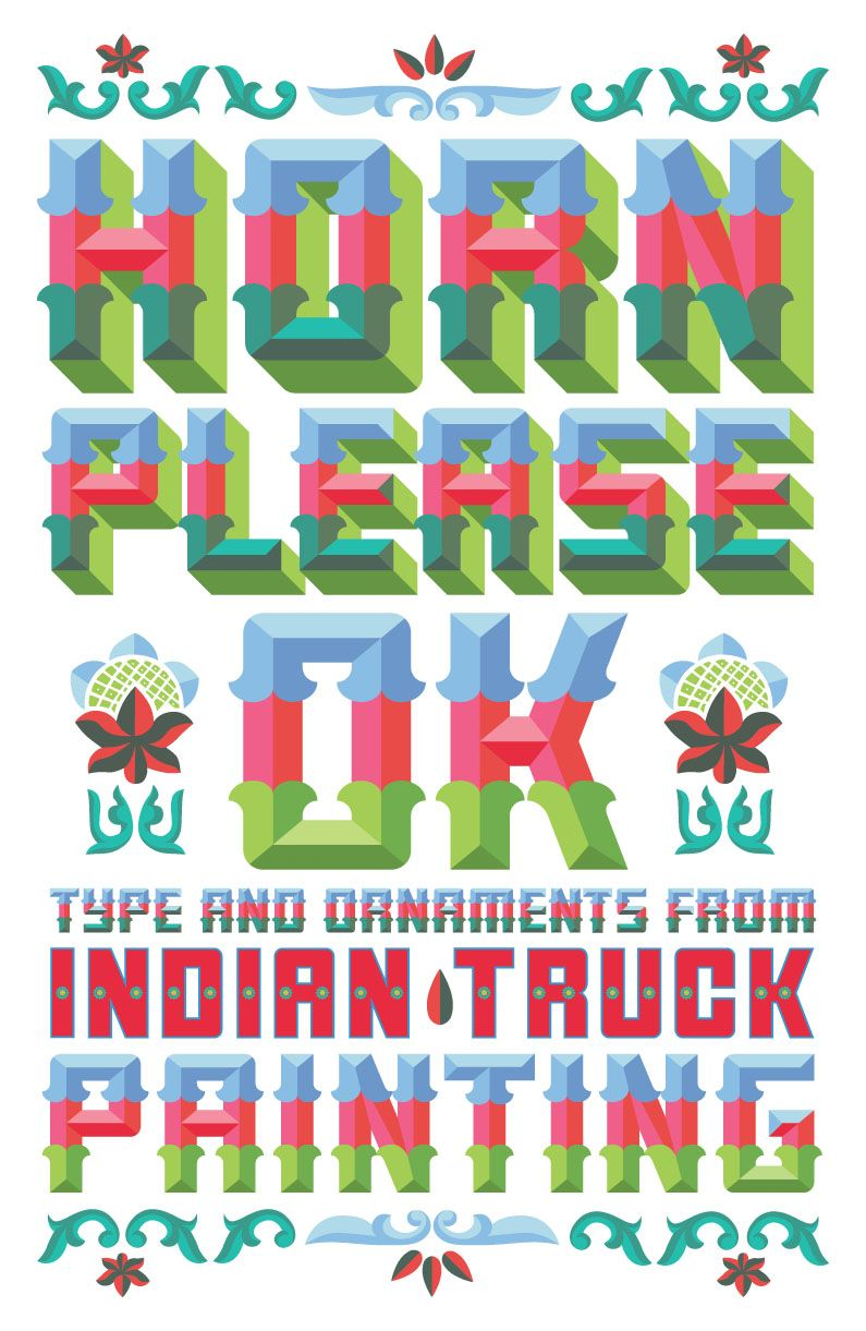 ANTON HORN, Indian truck painting. Typography, Lettering