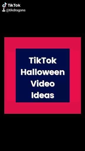 Tiktok Halloween Video Ideas Video Halloween Gif Videos Halloween Looks