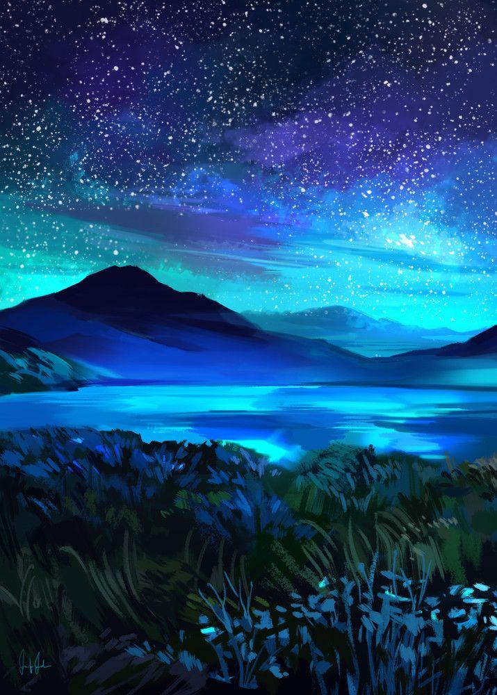 Mountain Landscape Painting Tumblr Landscape Paintings Acrylic Landscape Paintings Night Sky Painting