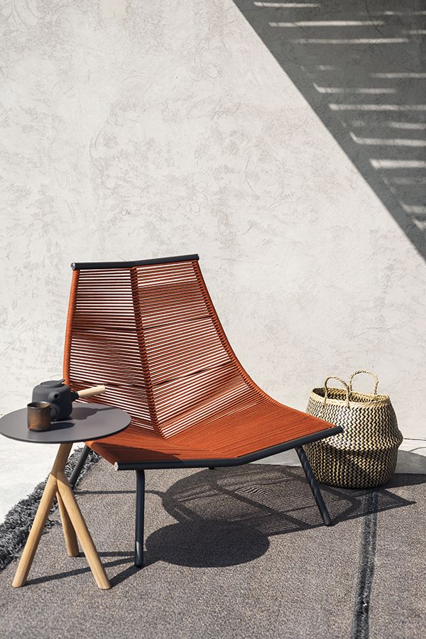 "LAZE outdoor lounge chairs are conceived as ""idle seats"" thanks to a wide and en…"