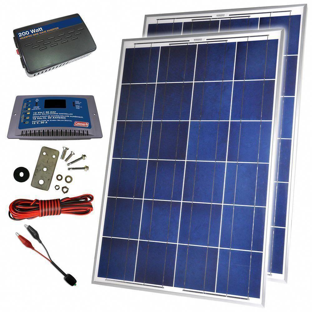 200 Watt 12 Volt Solar Backup Kit solarpowersystem