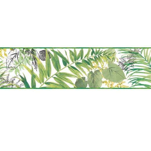 Tropical Wallpaper Border Tropical Leaves, Flamingo, Palm
