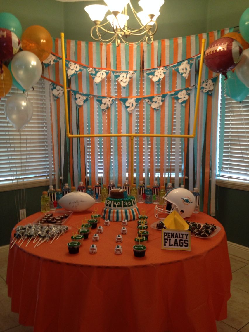 Miami Dolphins Birthday Party