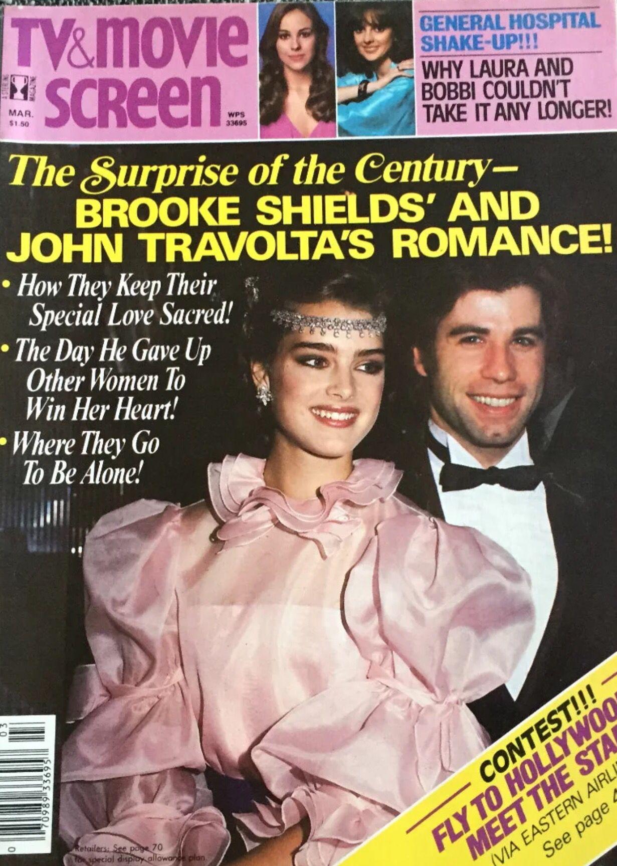 Brooke Shields And John Travolta Covers Tv Movie Screen Magazine United States March 1982 John Travolta Brooke Shields Celebrities Female