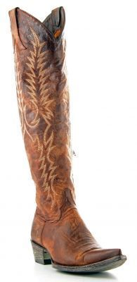 Womens TALL Old Gringo Mayra Boots Brass