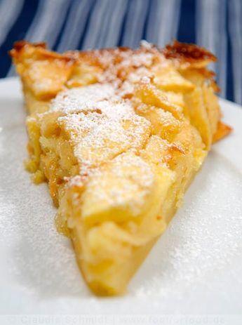 Rezept mit Bild für toskanischen Apfelkuchen - torta di mele