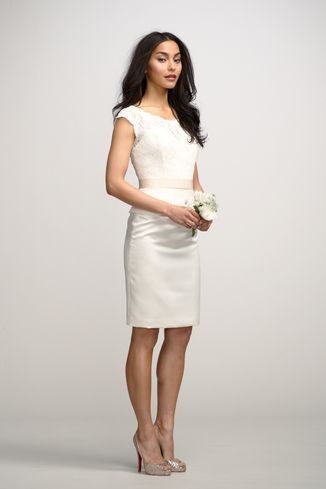 Watters Hyacinth Top And Aster Skirt Lwd Little White Dress | Weddington Way. #rehearsal #shower #dress