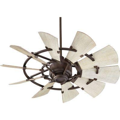44 Quot Outdoor Rustic Windmill Fan In 2020 Windmill Ceiling