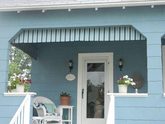 Outdoor Porch Decor Awings Valances By Front Door Outdoor Porch
