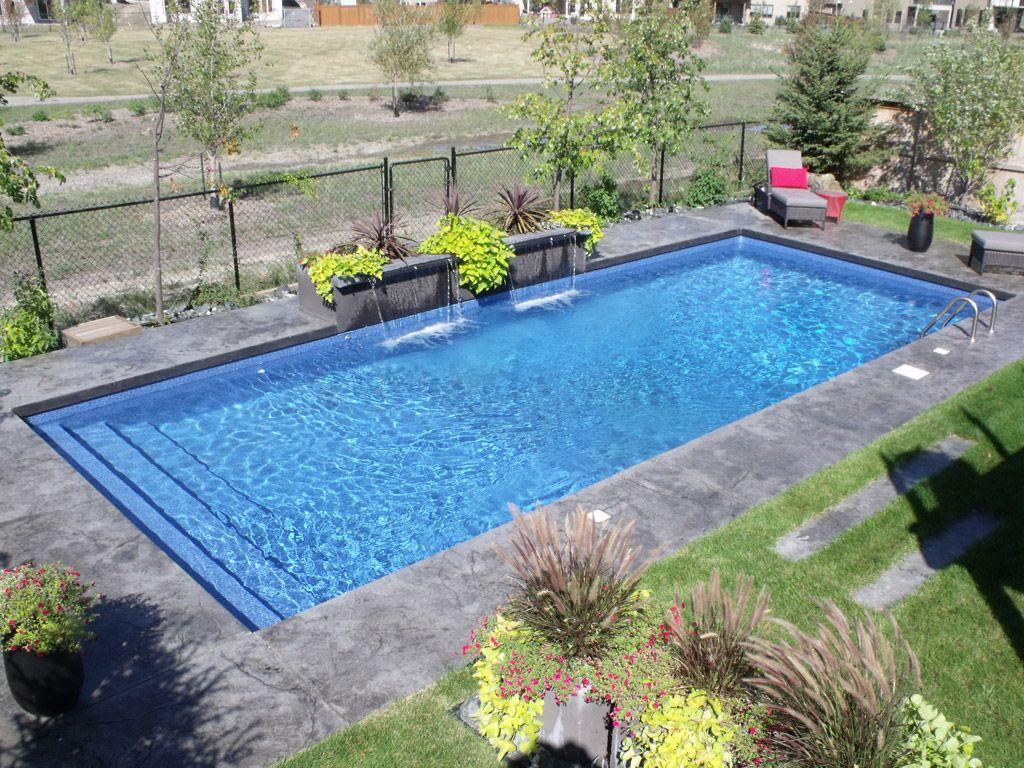Modern Rectangle Pools Backyard Pool Landscaping Inground Pool Designs Inground Pool Landscaping