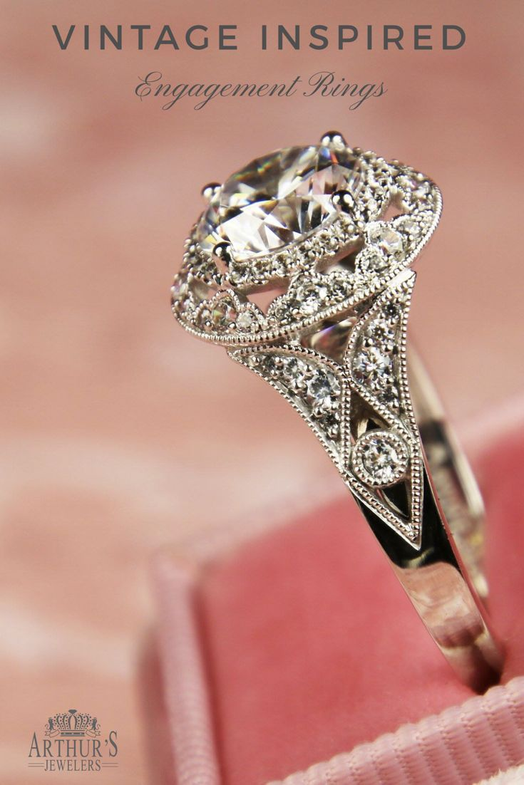 Vintage inspired diamond engagement rings and wedding rings from ...