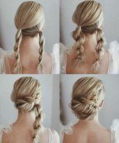 Photo of Wunderschöne und einfache Heimkehr Frisuren Tutorial langes Haar #diyhairstyles …