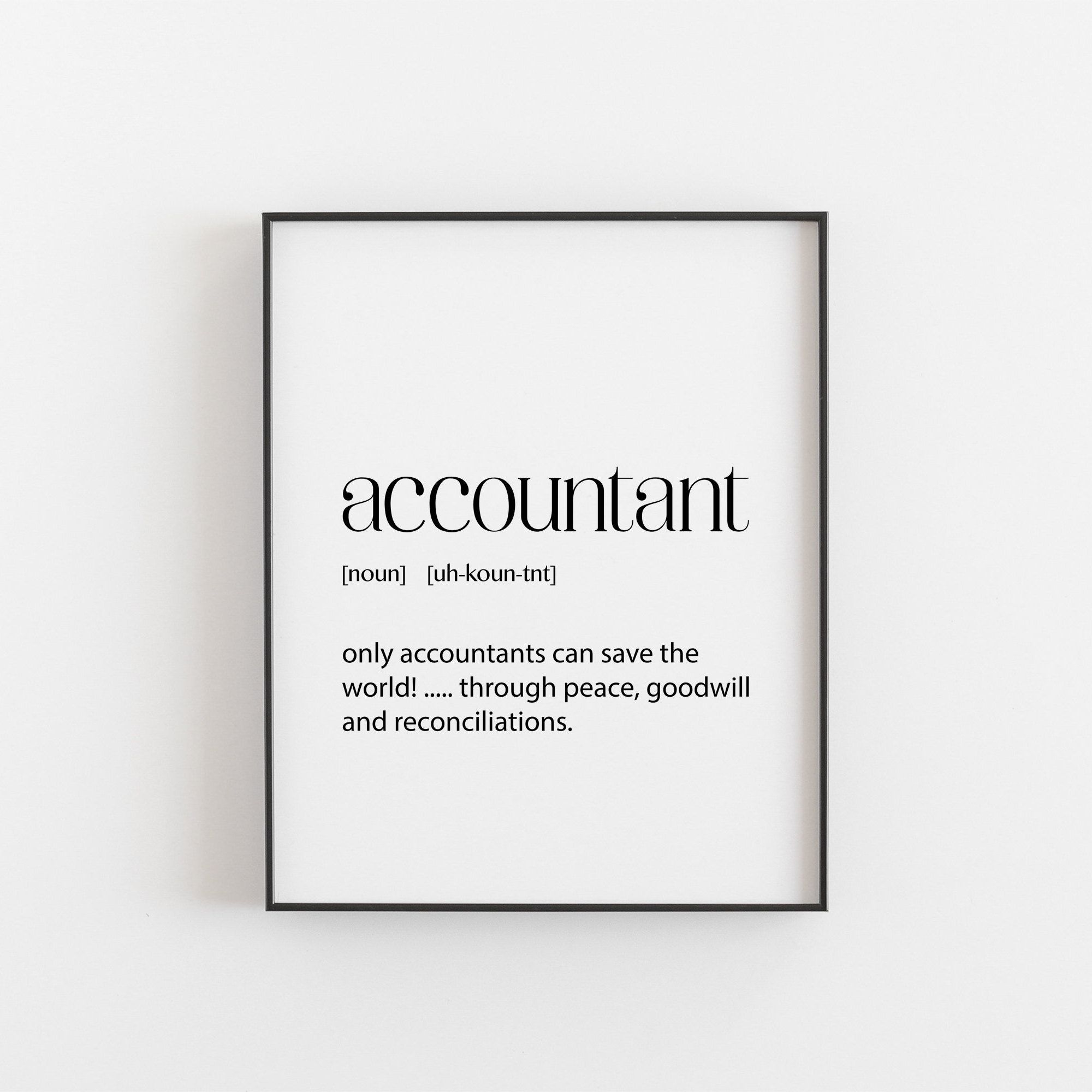 Accountant Gifts Graduation Gift Printable Download Funny