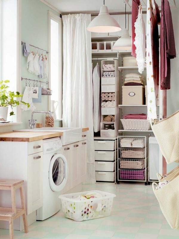 C mo organizar un cuarto de lavado y plancha ideas para for Cuartos lavaderos