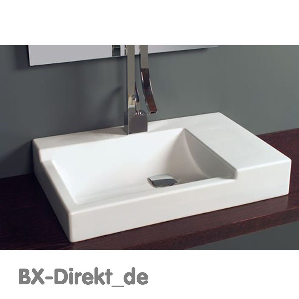 Designer Waschtisch Mit Ablage Original Keramik Aufsatz