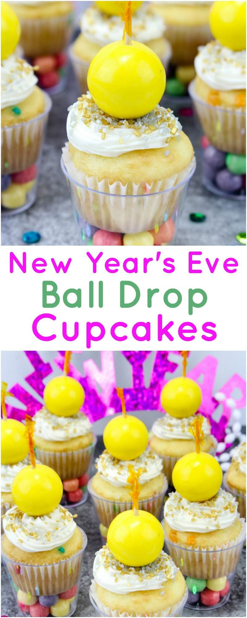 New Year's Eve Ball Drop Cupcakes | New years eve dessert ...