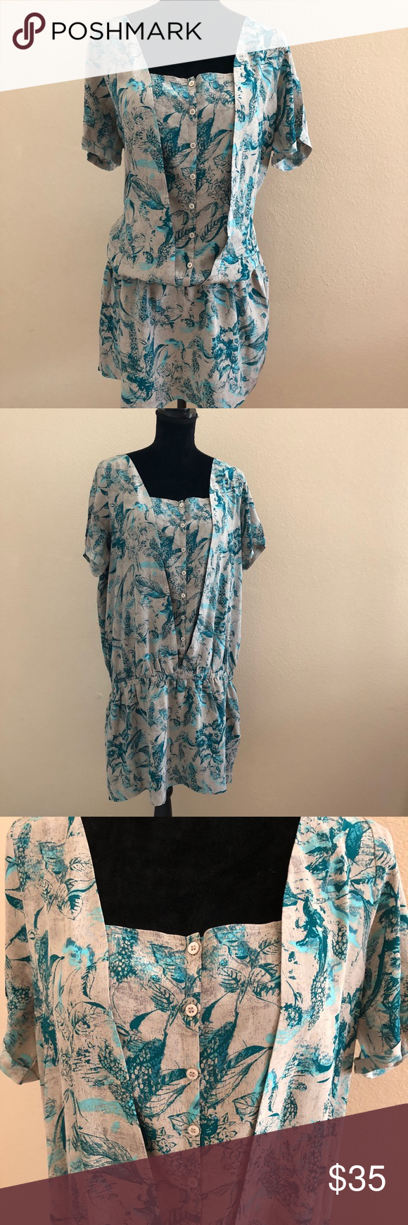 La Redoute Dress Size 18 Silk Grey Teal Floral Excellent Summer Dress Made Of Silk Skirt Part Has Thin Layer Of Polyester Lining Size 18 Dress Dresses Silk [ 1740 x 580 Pixel ]