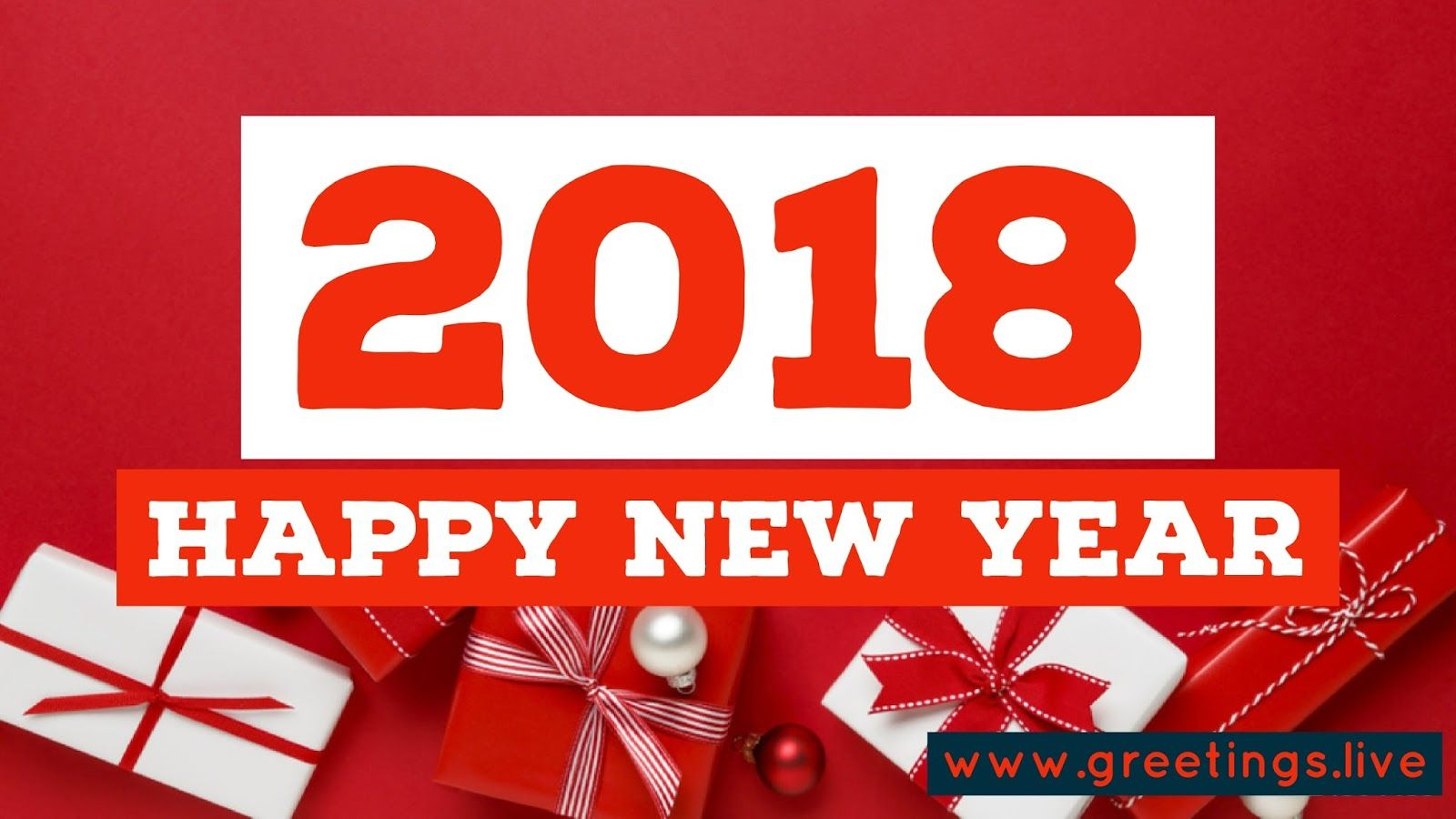 English Greetings on New Year 2018 New year 2018