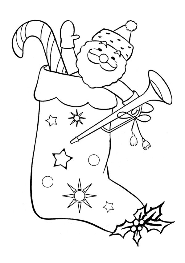 free online christmas stocking colouring page kids activity sheets christmas colouring pages - Christmas Stocking Colouring Pages To Print