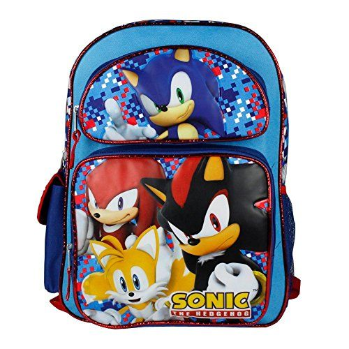 fb4ff4d3acae7 Sonic the Hedgehog Blue 16 Backpack Boys School Bag * This is an ...