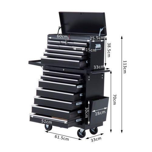 Carro caja de herramientas taller movil 16 cajones 4 - Cajas para herramientas con ruedas ...